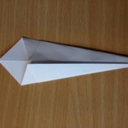 Schritt 5: Origami Schwan falten