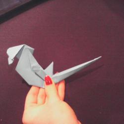 Schritt 30: Papagei aus Papier falten