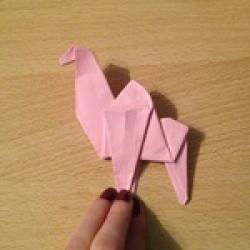 Schritt 20: Kamel aus quadratischem Blatt Papier basteln