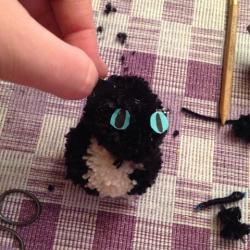 Schritt 20: Katze aus Wolle basteln