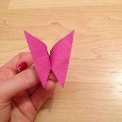 Schritt 16: Schmetterling aus Papier falten