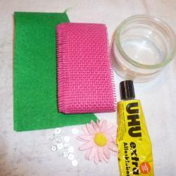Schritt 1: Rosa-Kerzenbecher selbst basteln