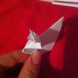 Schritt 8: Ente aus Papier falten