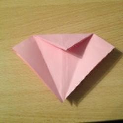 Schritt 8: Kamel aus quadratischem Blatt Papier basteln