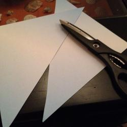 Schritt 2: Origami Papiervogel falten