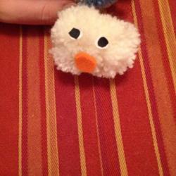 Schritt 13: Raupe aus Wolle basteln