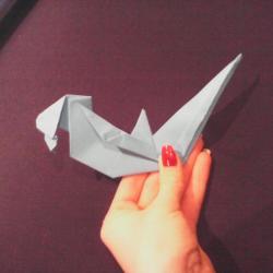 Schritt 28: Papagei aus Papier falten