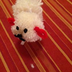 Schritt 25: Schaf aus Wolle basteln