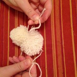 Schritt 13: Schaf aus Wolle basteln
