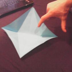 Schritt 7: Papagei aus Papier falten