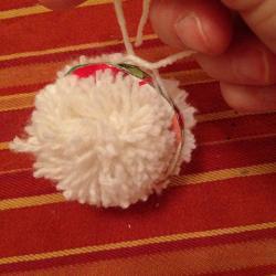 Schritt 9: Schaf aus Wolle basteln