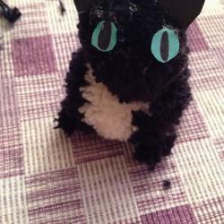 Schritt 24: Katze aus Wolle basteln