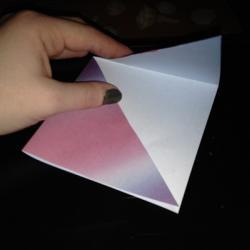 Schritt 4: Origami Papiervogel falten