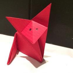 Schritt 8: Fuchs aus Papier falten