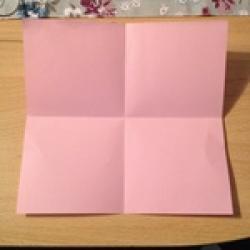 Schritt 2: Kamel aus quadratischem Blatt Papier basteln