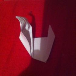 Schritt 9: Ente aus Papier falten